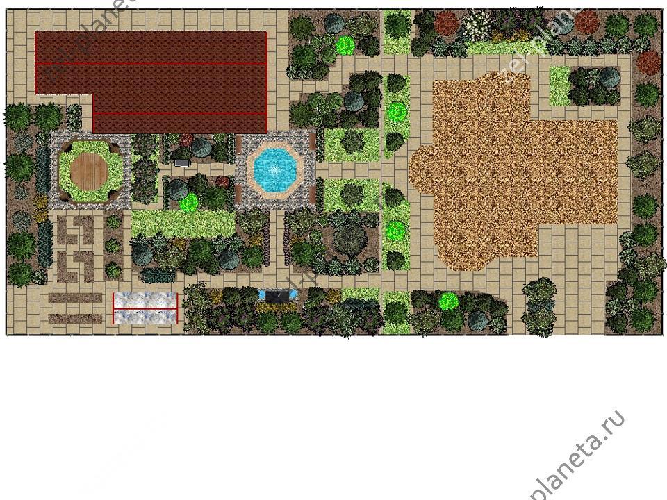 23 Сад с фонтаном