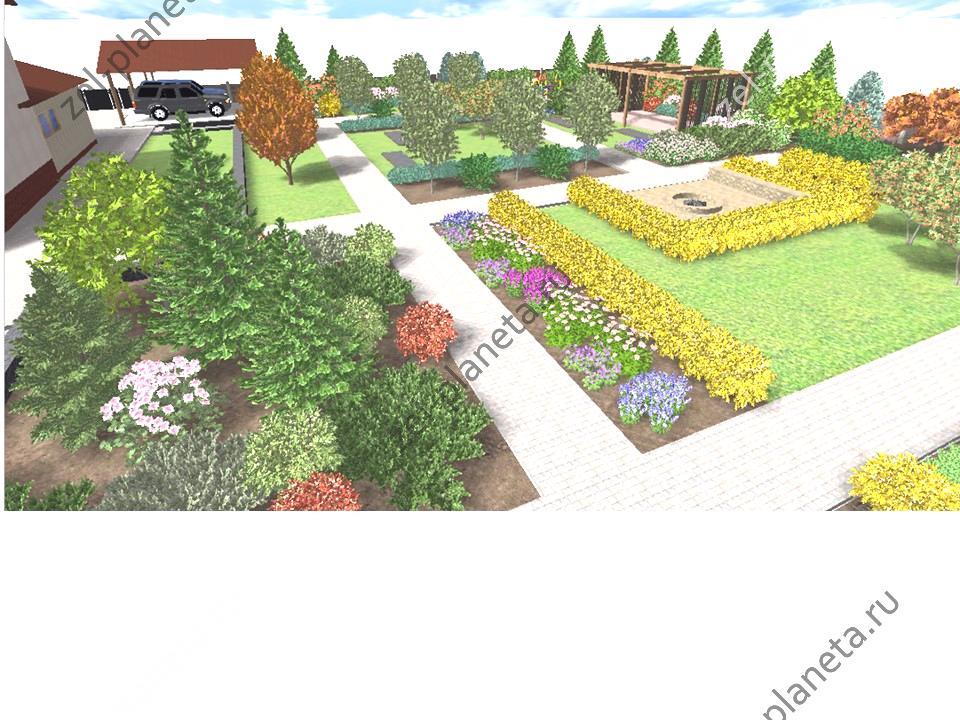 Сад для большой семьи